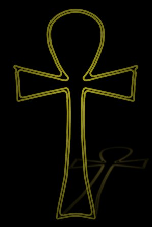 The ankh tattoo indicates the Egyptian symbol for everlasting life.