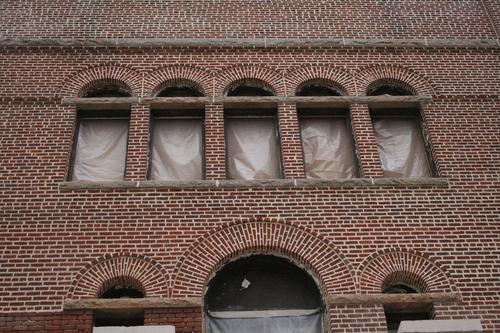 brick arched windows